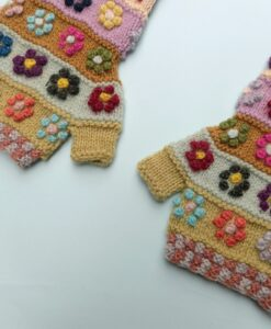 embroidered handmade mittens