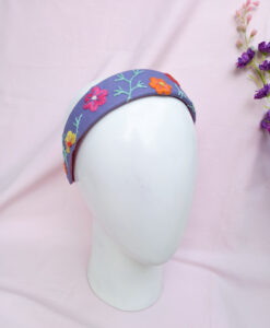 Floral embroidered headbands, with local indetify
