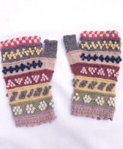 embroidered handmade mittens